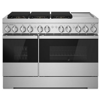 "JennairNoir 48"" Dual-Fuel Professional Range With Chrome-Infused Griddle"