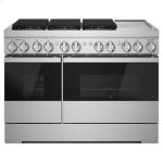 "Jenn-AirNOIR 48"" Dual-Fuel Professional Range with Chrome-Infused Griddle"
