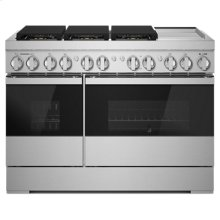 "NOIR 48"" Dual-Fuel Professional Range with Chrome-Infused Griddle"