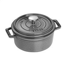 Staub Cast Iron 0.5-qt Round Cocotte, Graphite Grey