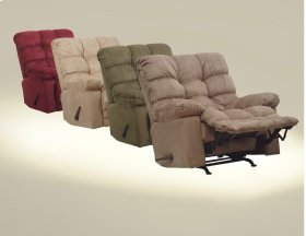 Chaise Rocker Recliner - Saddle