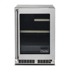 "Viking24"" Glass Door Undercounter Refrigerator - VRUI Viking Professional Product Line"