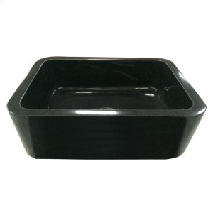 "Acantha Single Bowl Granite Farmer Sink - 36"" - Polished Blue Gray Product Image"