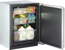 """Stainless Right-hand 3000 Series / 24"""" Solid Door Refrigerator Model / Digitally controlled single-zone convection cooling system"""