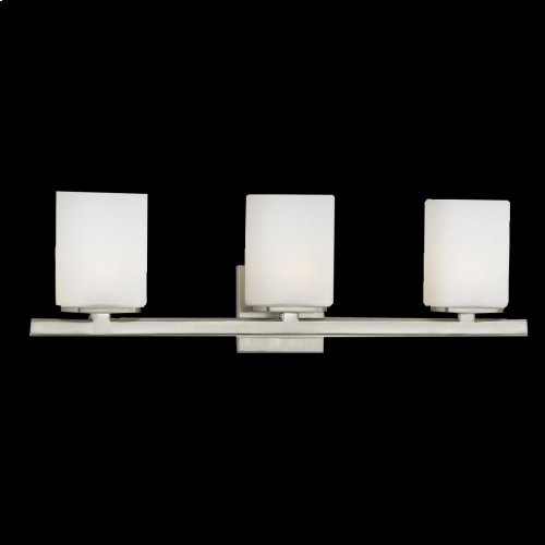3-LIGHT BATHBAR - Satin Nickel