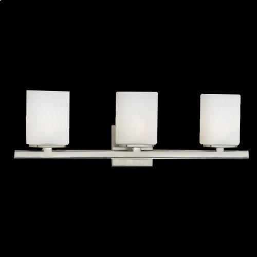 3-LIGHT BATHBAR - Satin Nickel