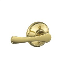 Avila Lever Non-turning Lock - Bright Brass