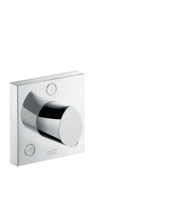 Brushed Chrome Trio/ Quattro shut-off/ diverter valve 120/120 for concealed installation
