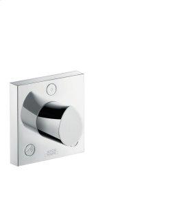 Chrome Trio/ Quattro shut-off/ diverter valve 120/120 for concealed installation