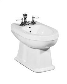 White RICHMOND Floorstanding Bidet Vertical Spray