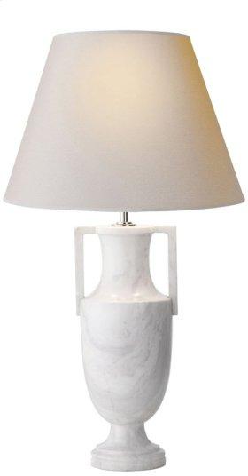 Visual Comfort AH3046WM-NP Alexa Hampton Burt 28 inch 75 watt White Marble Decorative Table Lamp Portable Light