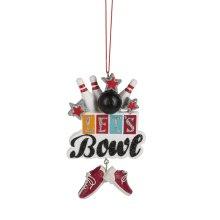 """""""Let's Bowl"""" Ornament."""