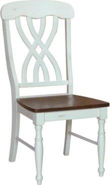 Latticeback Chair Alabaster & Espresso