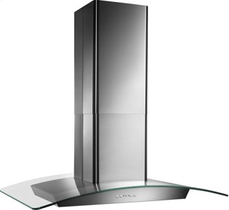 "35-5/8 "" X 25-5/8"", Island version, Stainless steel, Curved Glass Canopy, 500 CFM, Electronic control"