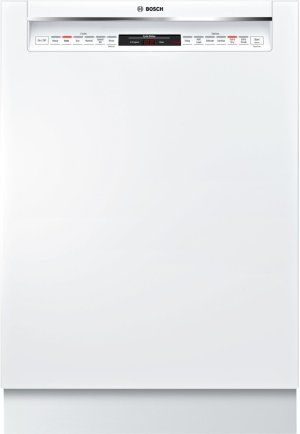 800 DLX Rec Hndl, 6/6 cycles, 42 dBA, Flex 3rd Rck, UR glide, Touch Cntrls - WH Product Image