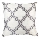 Aria Contemporary Decorative Feather and Down Throw Pillow In Gray Jacquard Fabric Product Image