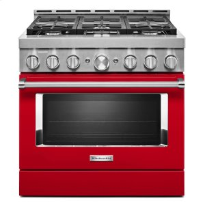 KitchenAid® 36'' Smart Commercial-Style Gas Range with 6 Burners - Passion Red - PASSION RED
