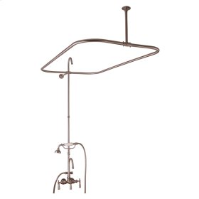 "Tub/Shower Converto Unit - 48"" Rod for Cast Iron Tub - Polished Chrome"