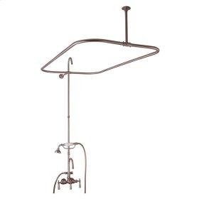 "Tub/Shower Converto Unit - 48"" Rod for Cast Iron Tub - Brushed Nickel"