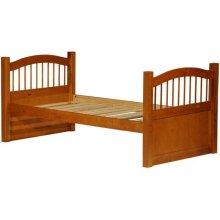 York Twin Captain's Bed, Honey Pine