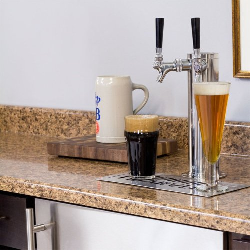 Marvel Built-In Indoor Twin Tap Beer Dispenser - Solid Panel Overlay Ready Door - Integrated Right Hinge