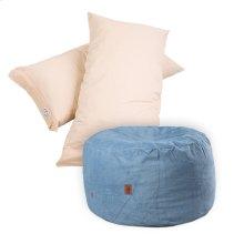Pillow Pod Footstools - Chenille - Slate