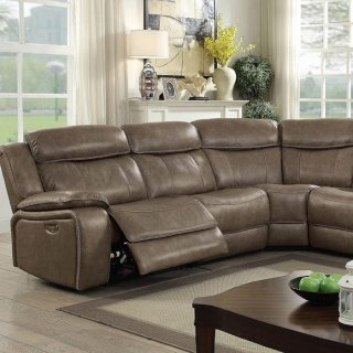 Page Power-assist Sectional W/ Console Table