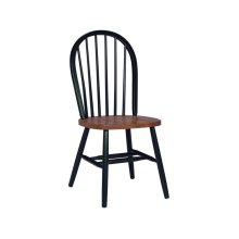 Windsor Chair in Black & Cherry