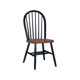 Windsor Chair in Black & Cherry