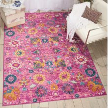 Passion Psn01 Fuchsia Rectangle Rug 6'7'' X 9'6''
