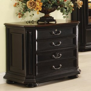 RiversideAllegro - Lateral File Cabinet - Burnished Cherry/rubbed Black Finish