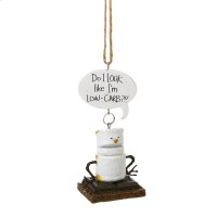"""Toasted S'mores """"Do I Look Like I'm Low-Carb""""!!"""" Ornament. Product Image"""