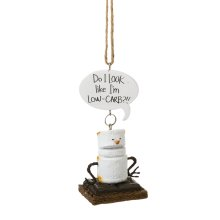 """Toasted S'mores """"Do I Look Like I'm Low-Carb""""!!"""" Ornament."""