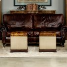 Elegant Petite Stool, Canvas & Leather Product Image