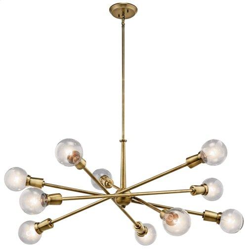 Armstrong 10 Light Chandelier Natural Brass