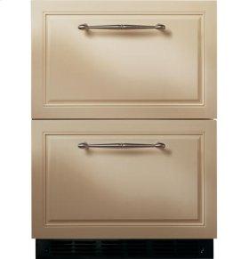"24"" Custom Panel Double Drawer Refrigerator"