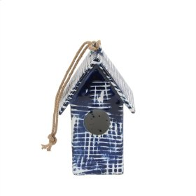 Blue/white Birdhouse