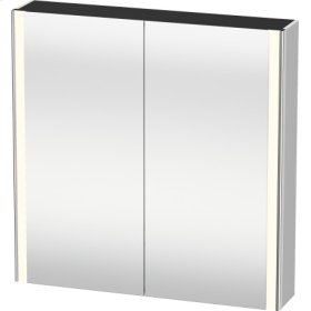 Mirror Cabinet, White Satin Matt Lacquer