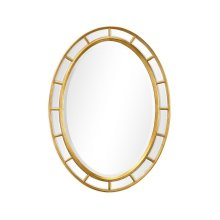 Oval Panelled Gilded Mirror (Plain Mirror Glass)