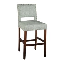 Locke Bar Stool with Nailheads