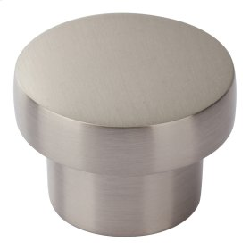 Chunky Round Knob Medium 1 7/16 Inch - Brushed Nickel