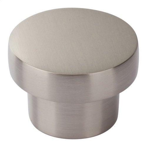 Chunky Round Knob Medium 1 7/16 Inch - Brushed Nickel