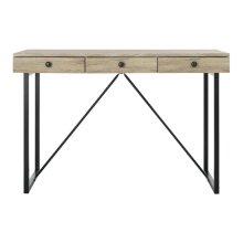 Hilton 3 Drawer Desk - Oak / Black