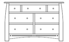 "Hayworth 7 Drawer 60"" Dresser"