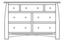 "Hayworth 7 Drawer 60"" Dresser"