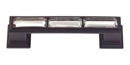 Legacy Crystal Pull 3 Inch (c-c) - Matte Black