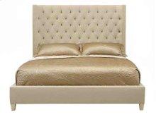 King-Sized Salon Upholstered Panel Bed in Salon Alabaster (341)