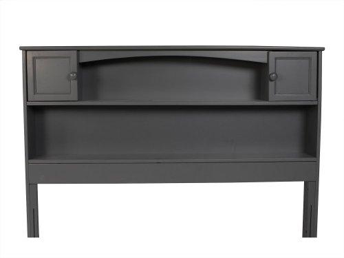 Newport Bookcase Headboard Full Atlantic Grey