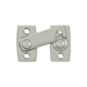 "Shutter Bar/Door Latch 1 3/8"" - Brushed Nickel"