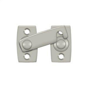 """Shutter Bar/Door Latch 1 3/8"""" - Brushed Nickel"""
